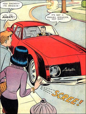 Avanti in Archie Comic Book