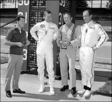 Johnny Carson at the Indianapolis Motor Speedway in 1967